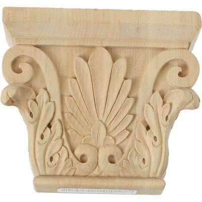 3-1/8 in. x 9-1/2 in. x 7-5/8 in. Unfinished Wood Maple Medium Chesterfield Capital