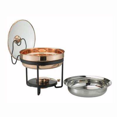 2.5 qt. Decor Copper Chafing Dish with Glass Lid
