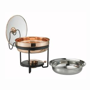 Click here to buy Old Dutch 2.5 qt. Decor Copper Chafing Dish with Glass Lid by Old Dutch.