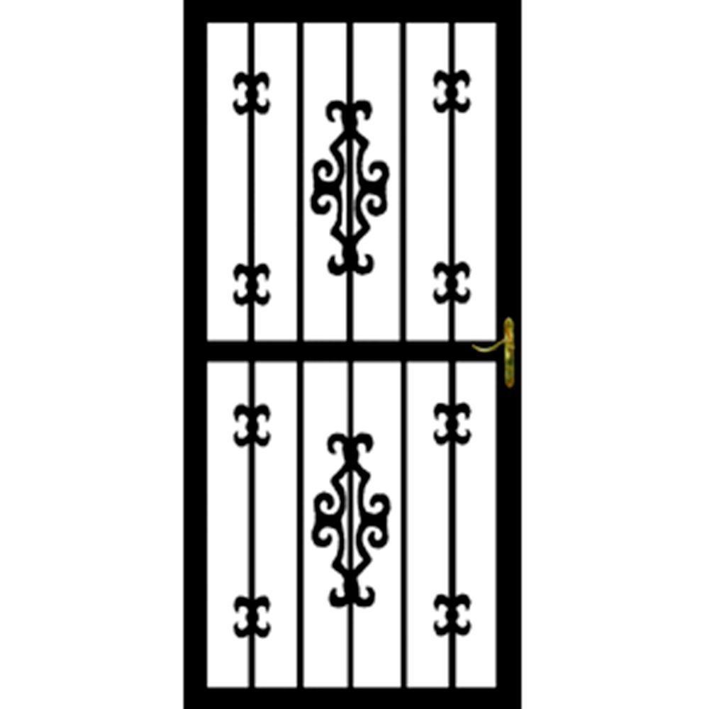 Grisham 36 in. x 80 in. 365 Series Black Chile Security Door