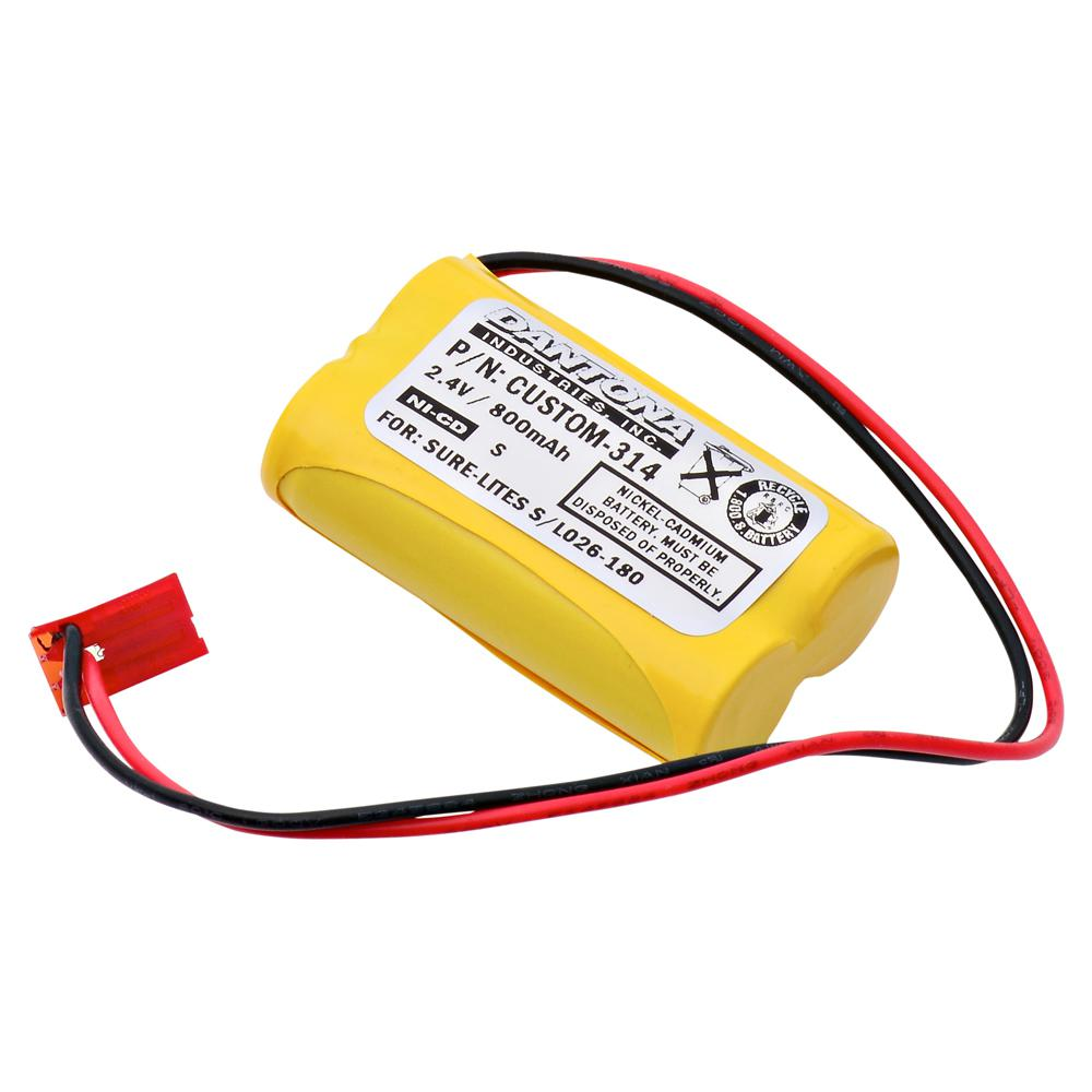 Dantona 2.4-Volt 800 mAh Ni-Cd battery for Cooper Industries - LPX7