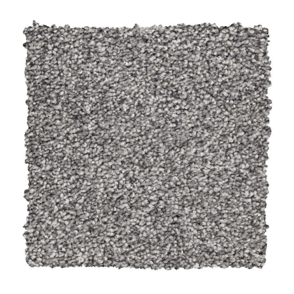 Carpet Sample - Silver Mane II - Color Batik Textured 8 in. x 8 in.