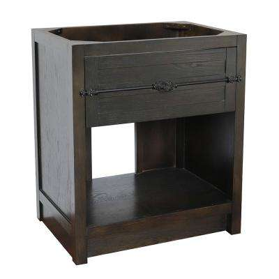 Plantation II 30 in. W x 21.5 in. D Bath Vanity Cabinet Only in Brown