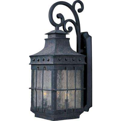 Nantucket 4-Light Country Forge Outdoor Wall Lantern Sconce
