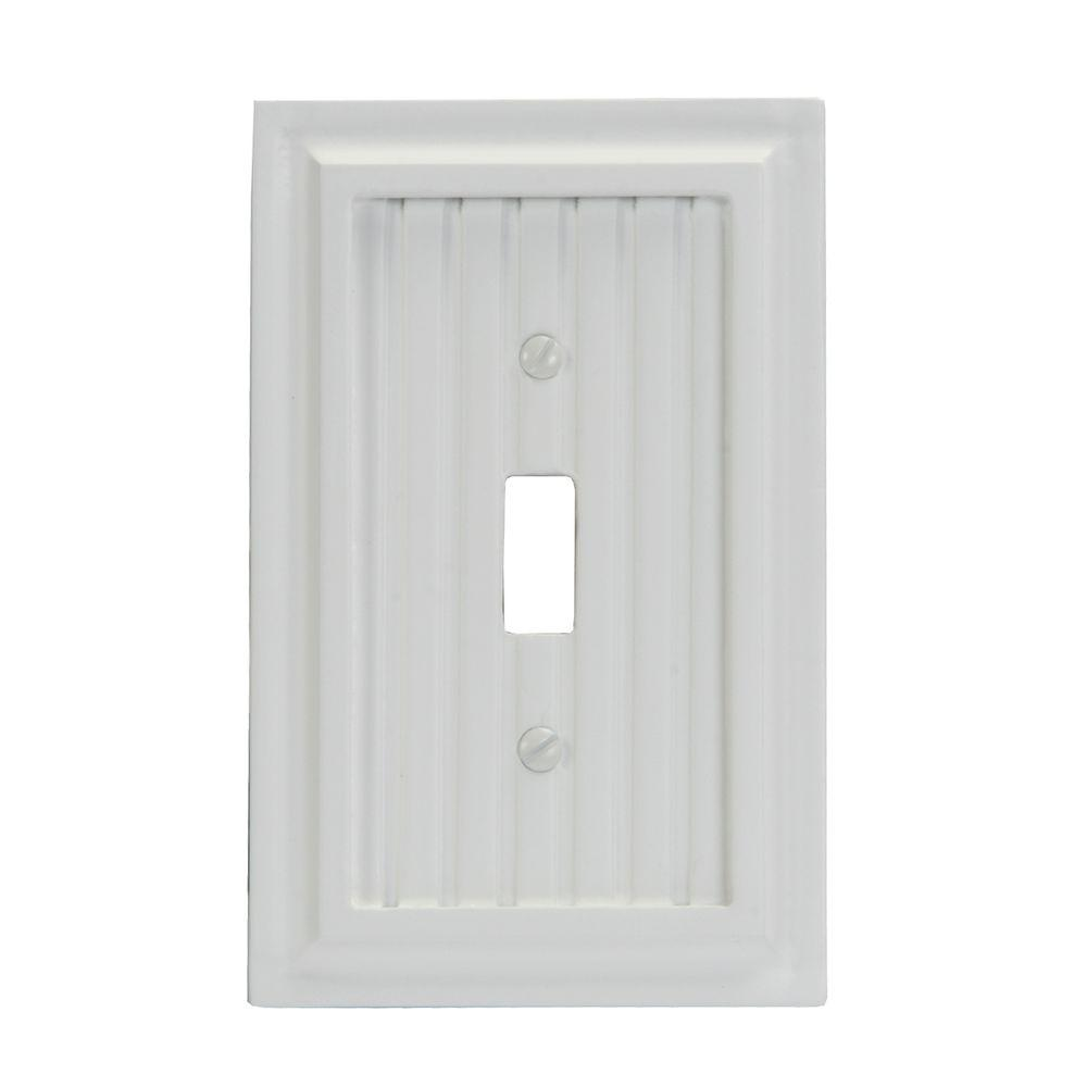 Amerelle Cottage 1 Toggle Wall Plate - White