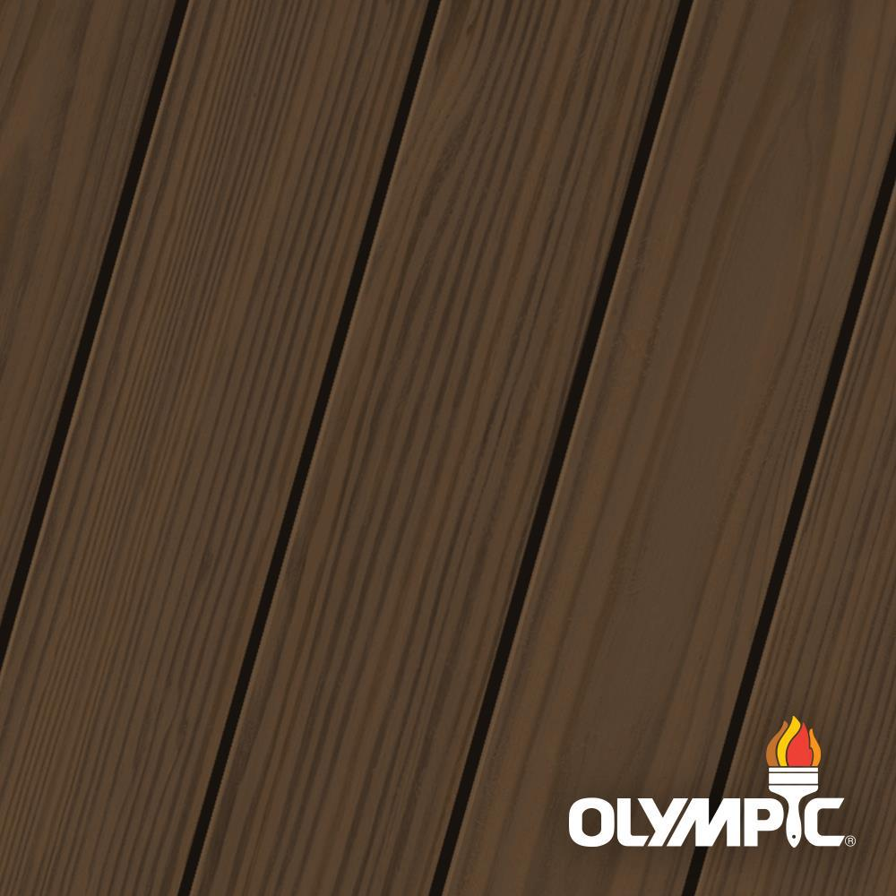 Olympic Elite 8 oz. Dark Bark Semi-Transparent Exterior Wood Stain and Sealant in One