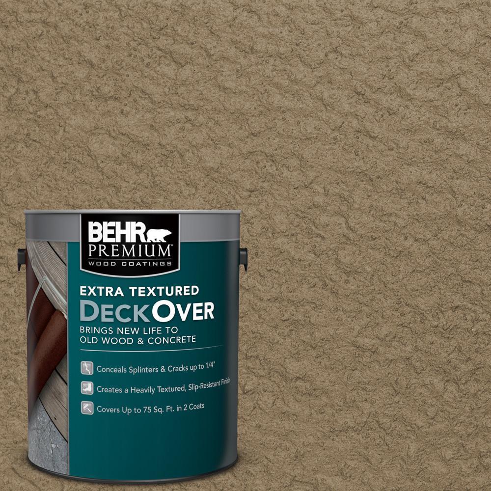BEHR Premium Extra Textured DeckOver 1 Gal. #SC 153 Taupe Extra Textured  Solid