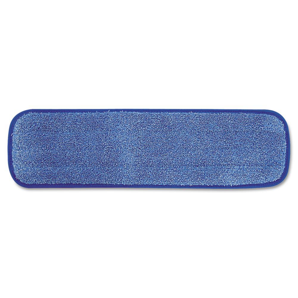 18 in. Microfiber Wet Room Pad Split Nylon/Polyester Blend in Blue (12/Carton)