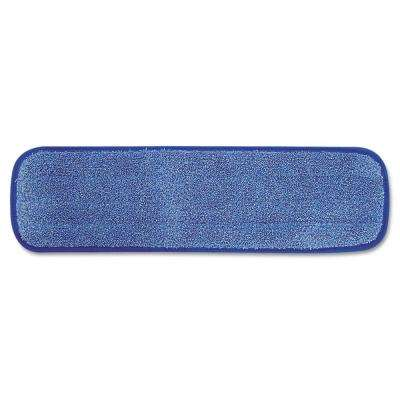 18 in. Microfiber Wet Room Pad Split Nylon/Polyester Blend in Blue (12/Carton)