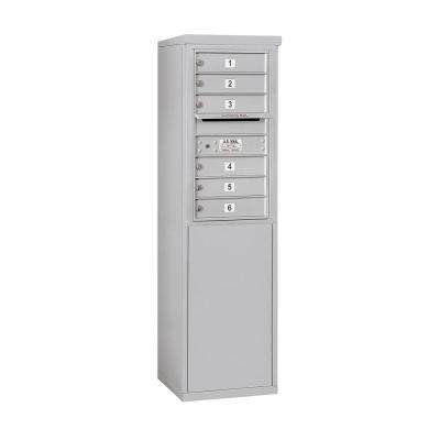3900 Horizontal Series 6-Compartment Free Standing Mailbox