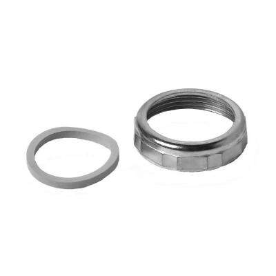 1-1/2 in. Sink Drain Pipe Zinc Slip-Joint Nut with Rubber Reducing Washer