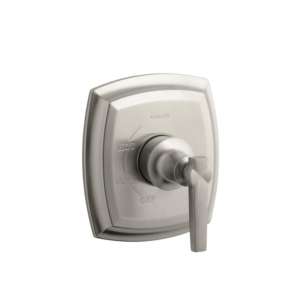 KOHLER Margaux 1-Handle Tub and Shower Faucet Trim Kit with Lever Handle in Vibrant Brushed Nickel (Valve Not Included)