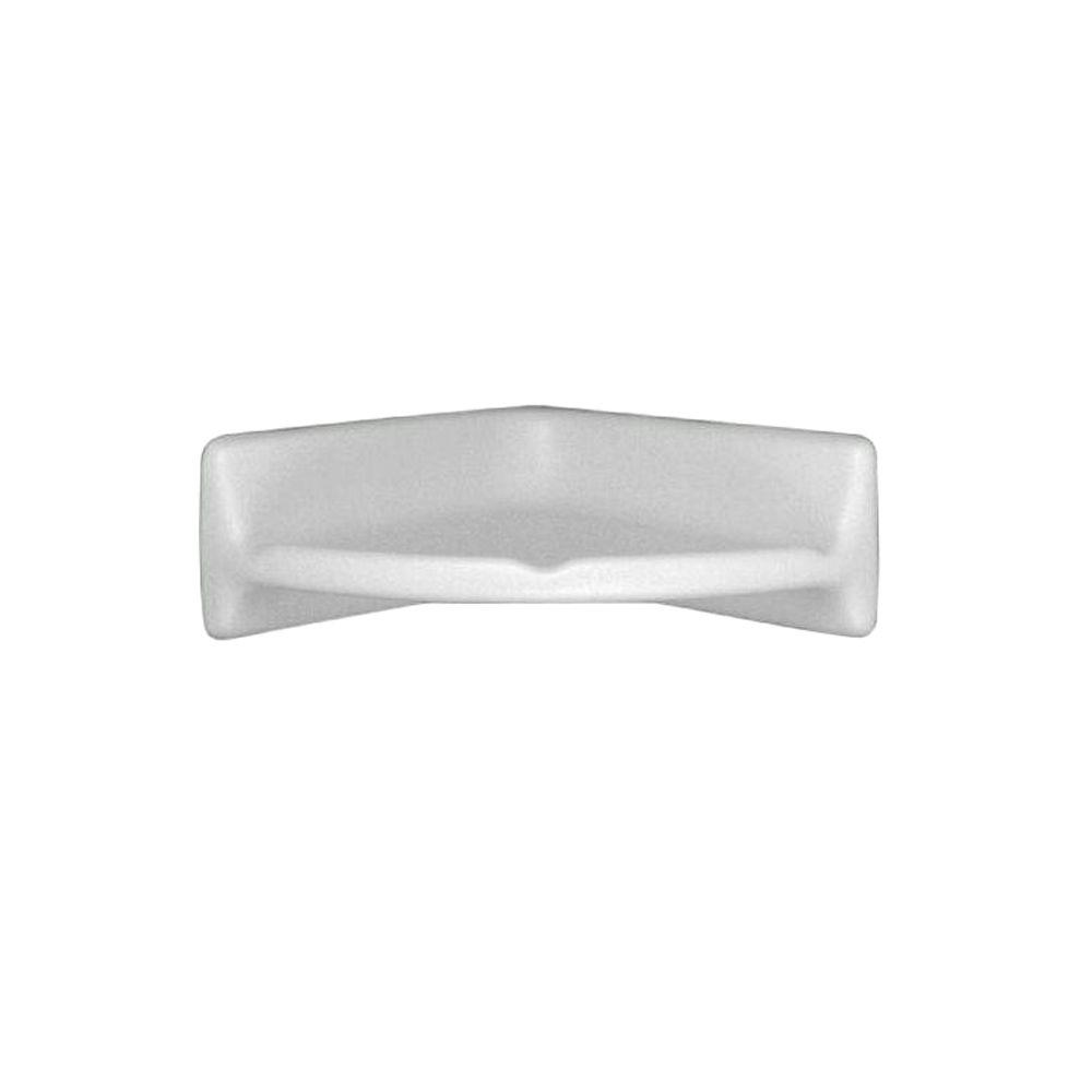Daltile Bath Accessories 8-3/4 in. L x 2-1/2 in. H x 8-3/4 in. W Wall-Mounted Bath/Tub/Shower Surround Corner Shelf in White