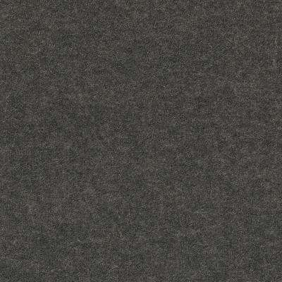 Premium Self-Stick Well Kept II Black Ice Texture 18 in. x 18 in. Carpet Tile (16 Tiles/Case)