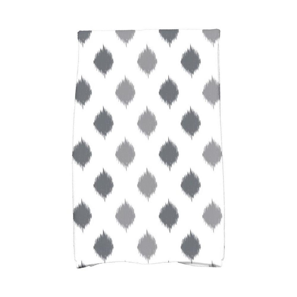 E by Design 16 in. x 25 in. Gray Ikat Dot Stripes Holiday Geometric Print Kitchen Towel Spice up your decor with stylish kitchen towels. E By Design's kitchen towel collection includes a variety of fashionable and aesthetic designs you're sure to love. Our kitchen towels are just what you need to complete your kitchen decor. Color: Gray.