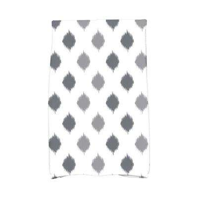 16 in. x 25 in. Gray Ikat Dot Stripes Holiday Geometric Print Kitchen Towel