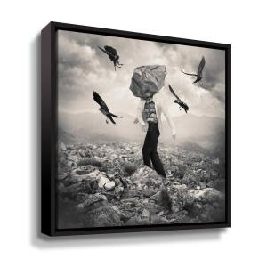 'Battle' by  Tommy Ingberg Framed Canvas Wall Art