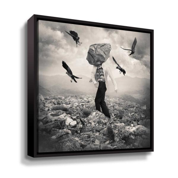 ArtWall 'Battle' by Tommy Ingberg Framed Canvas Wall Art 5ing009a3636f
