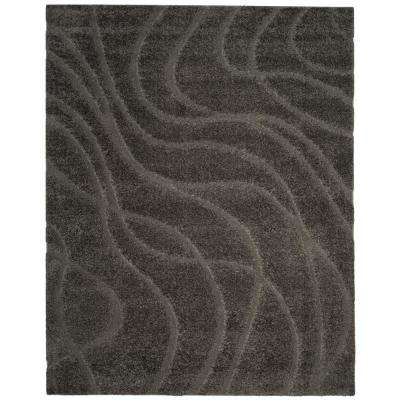 Florida Shag Gray 8 ft. 6 in. x 12 ft. Area Rug