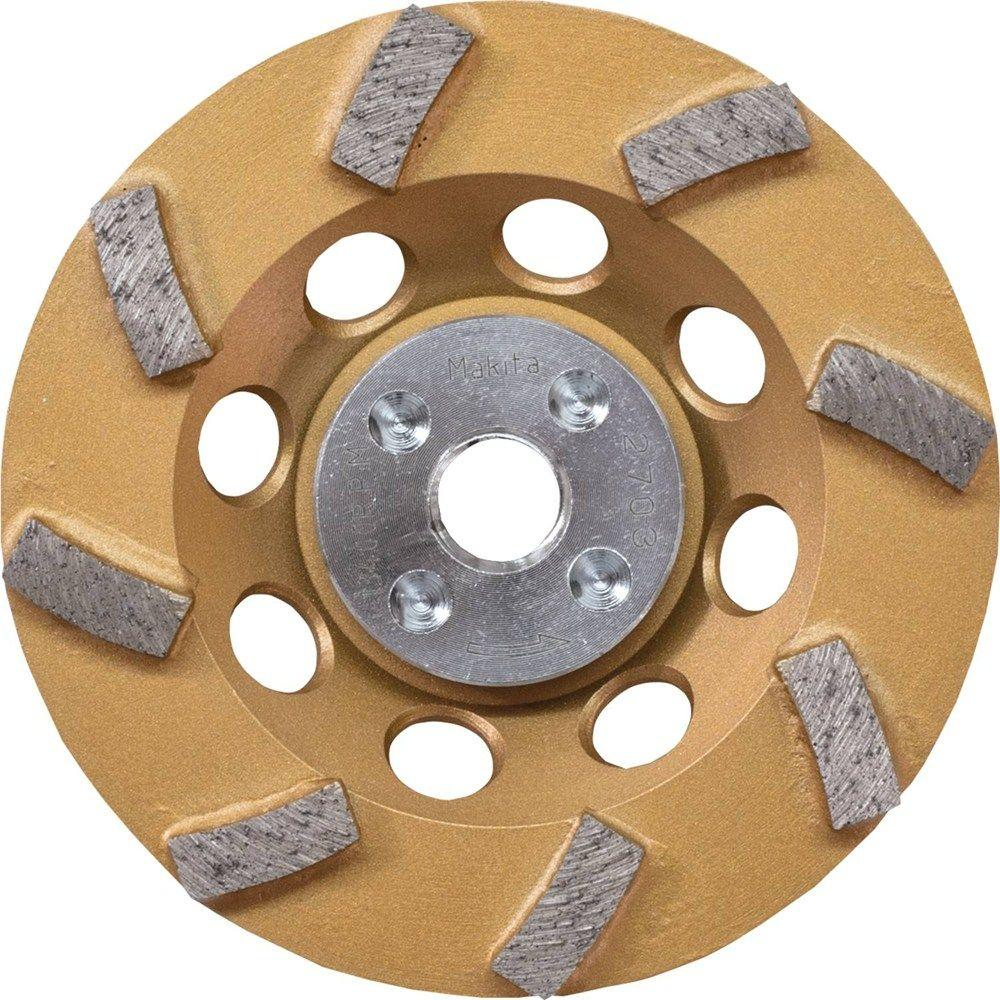 4-1/2 in. Turbo 8 Segment Diamond Cup Wheel, Low-Vibration, Compatible with