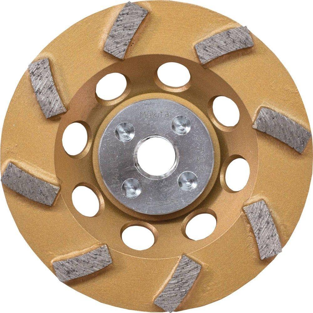 Makita 4-1/2 inch Turbo 8 Segment Diamond Cup Wheel, Low-Vibration, Compatible... by Makita