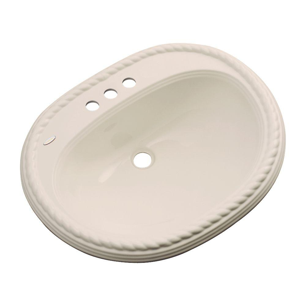 Malibu Drop-In Bathroom Sink with Faucet Hole in Candle-Lyte