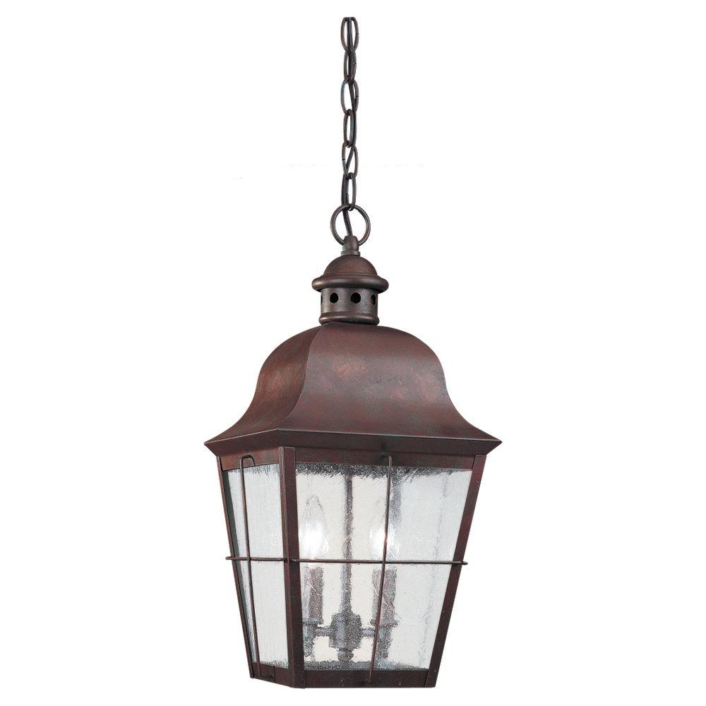Sea Gull Lighting Chatham 2-Light Weathered Copper Outdoor Hanging Pendant
