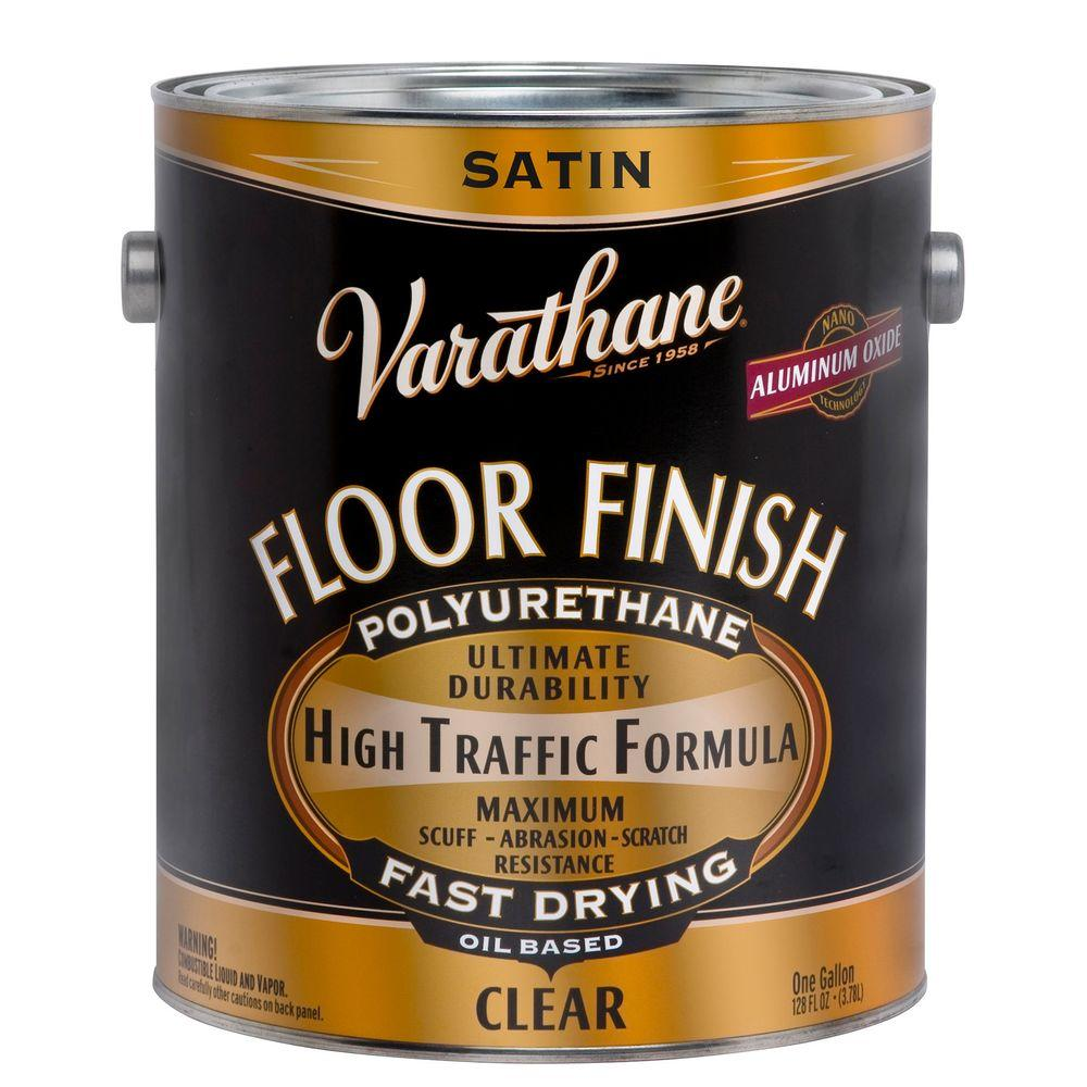 1 gal. Clear Satin 275 VOC Oil-Based Floor Finish Polyurethane (Case