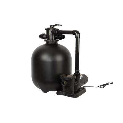 Above Ground Sand Filter System with 1.5 HP Dual Speed Pump - 2.86 sq. ft. filtration area