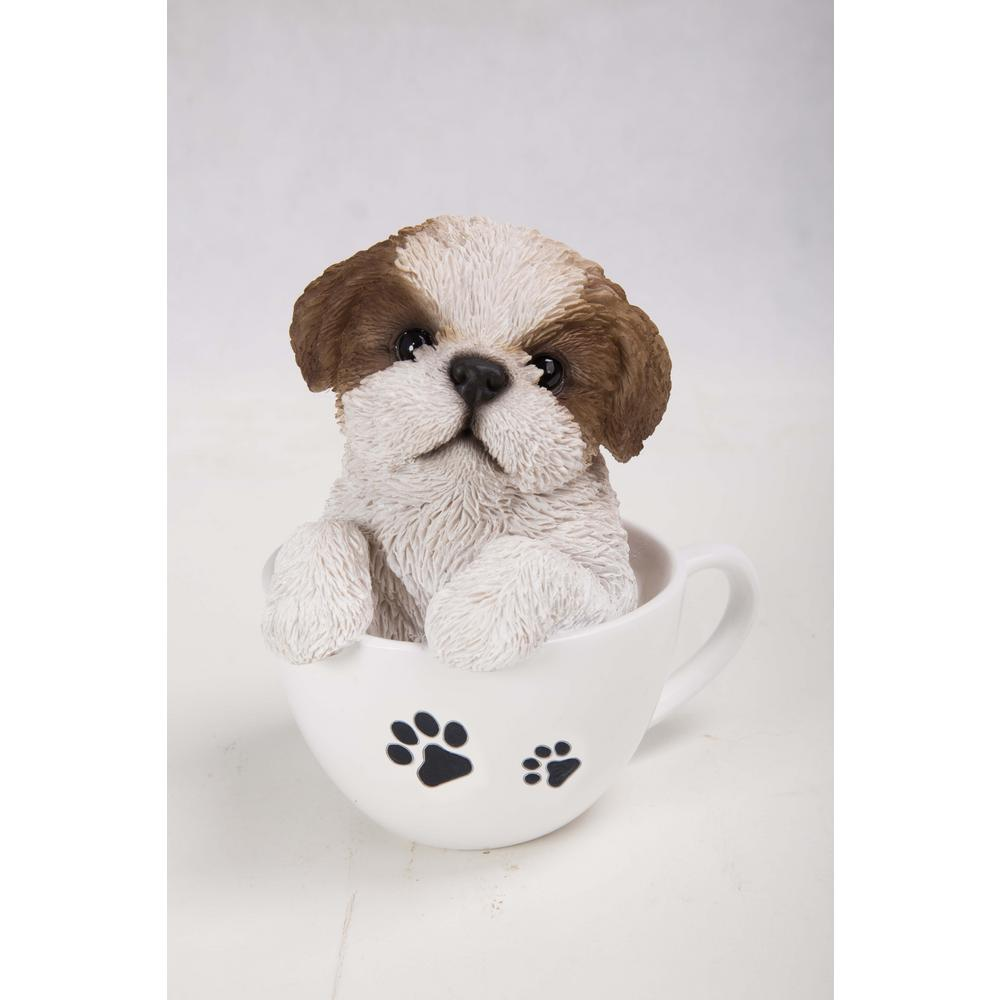 Hi Line Gift Teacup Shih Tzu Puppy 87706 C The Home Depot