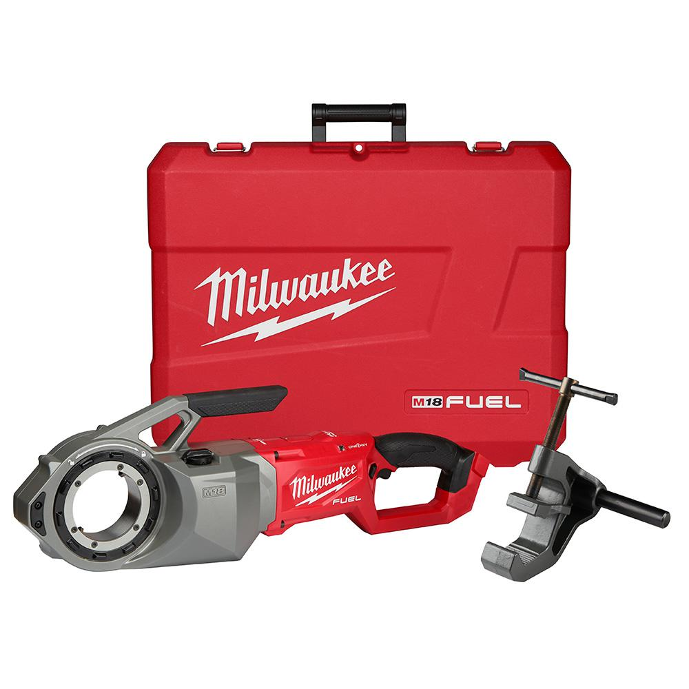 Milwaukee M18 FUEL ONE-KEY Cordless Brushless Pipe Threader (Tool Only)  with Support Arm and Case