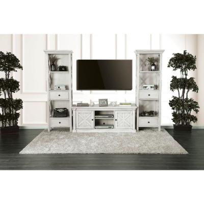 Georgia 60 in. Rustic Style TV Stand in Antique White