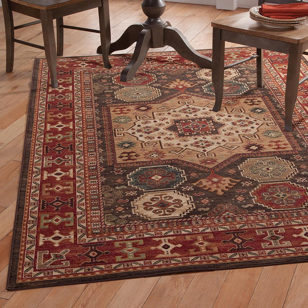Sams international sonoma curran chocolate 5 ft 3 in x 7 for International home decor rugs