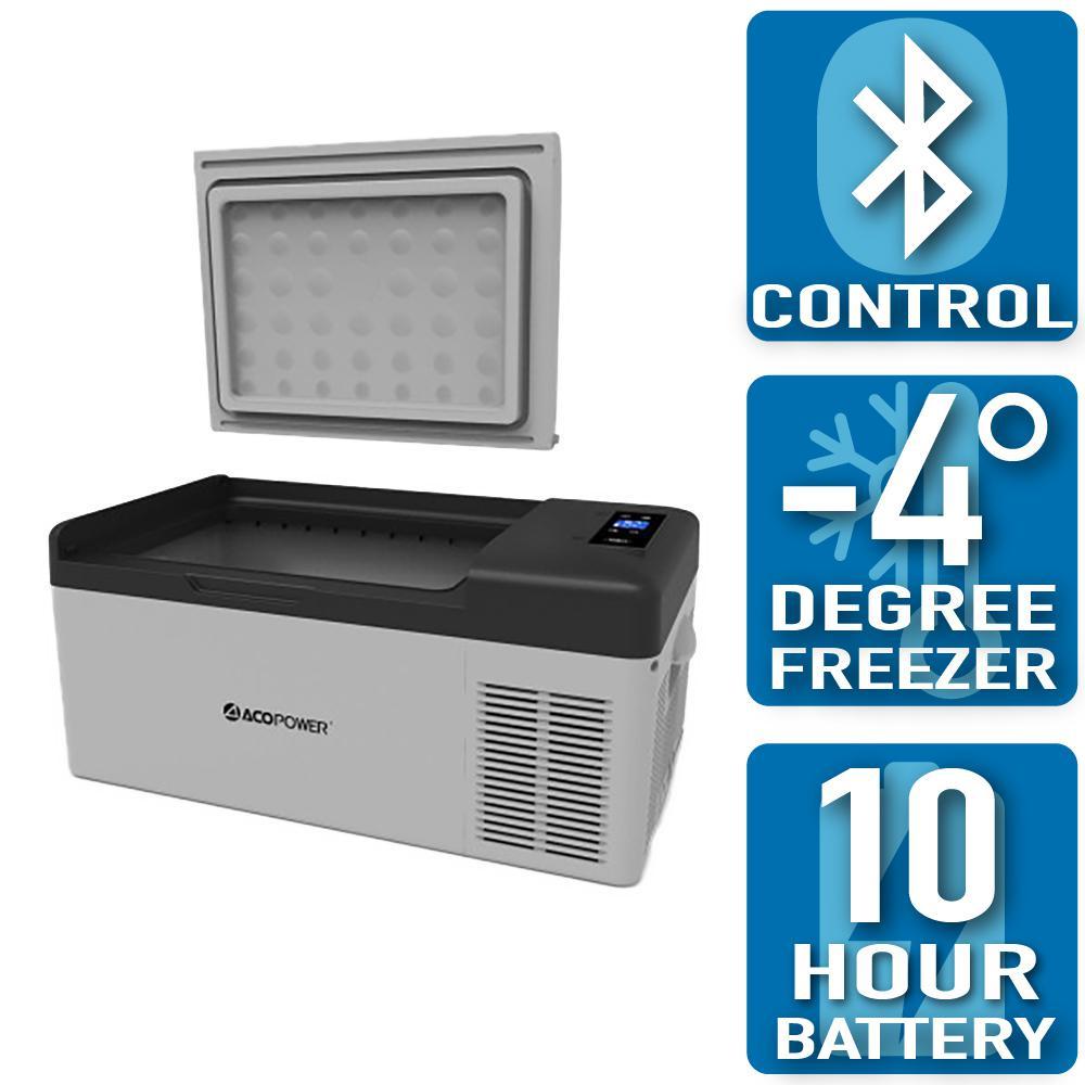 ACOPOWER LiONCooler 17 Qt  Battery Powered Chest Fridge Freezer Cooler w/10  Plus Hour Run Time, Recharge Using Solar/DC/AC Power