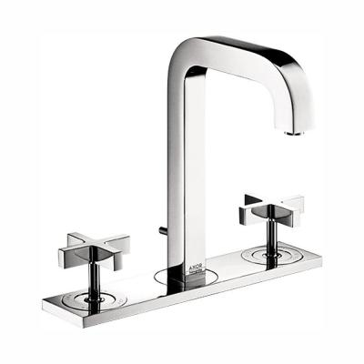 Citterio 8 in. Widespread 2-Handle Mid-Arc Bathroom Faucet in Chrome with Baseplate