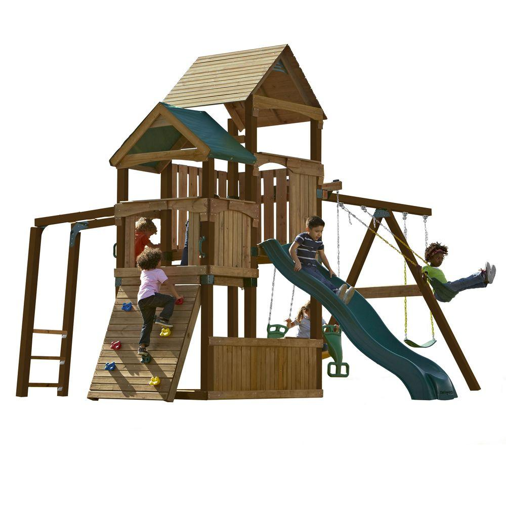 Swing-N-Slide Playsets Sky Tower Play Set, Add 4 in. x 4 in. Uprights and Slide