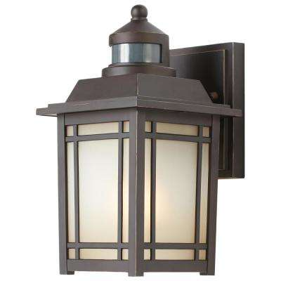 Port Oxford 1 Light Oil Rubbed Chestnut Outdoor Motion Sensor Wall Lantern Sconce