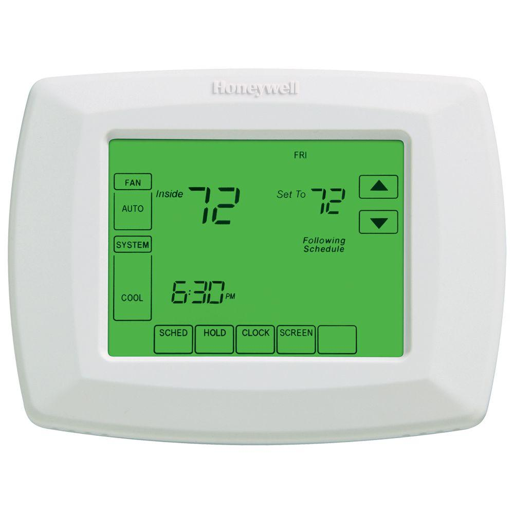 honeywell 7 day universal touchscreen programmable thermostat rh homedepot com
