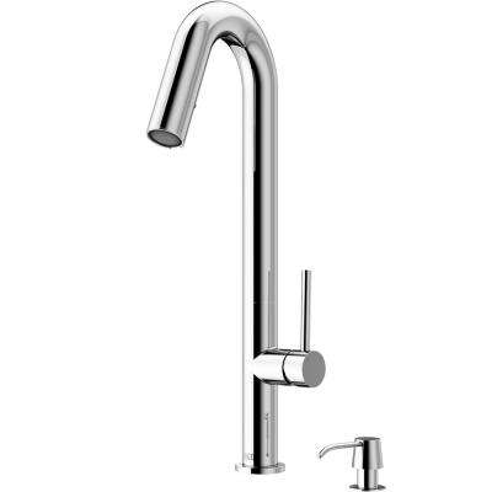 Oakhurst LED Pull-Down Kitchen Faucet With Soap Dispenser In Chrome