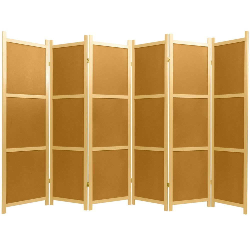 6 ft natural 6 panel cork board room divider ss cork 6 panel the
