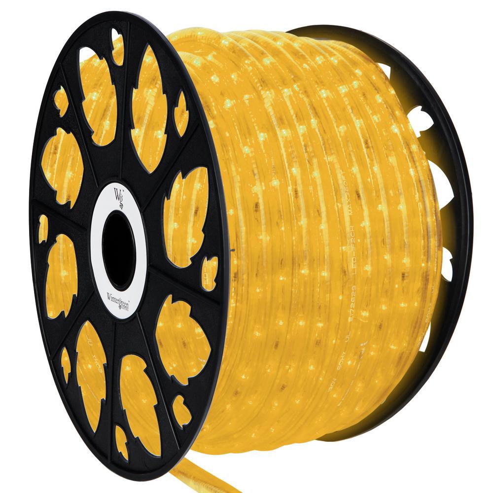 150 ft. LED Yellow Rope Light Kit