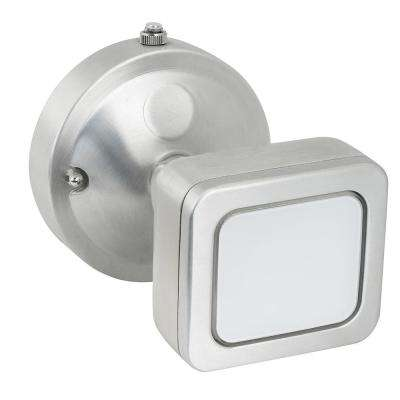 18.5-Watt Stainless Outdoor Integrated LED Mini Single Head Flood Light with Dusk to Dawn Photocell