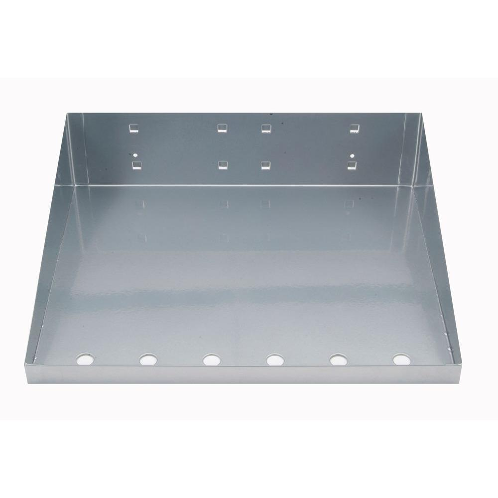 3/8 in. Silver Epoxy Powder Coated Steel Shelf