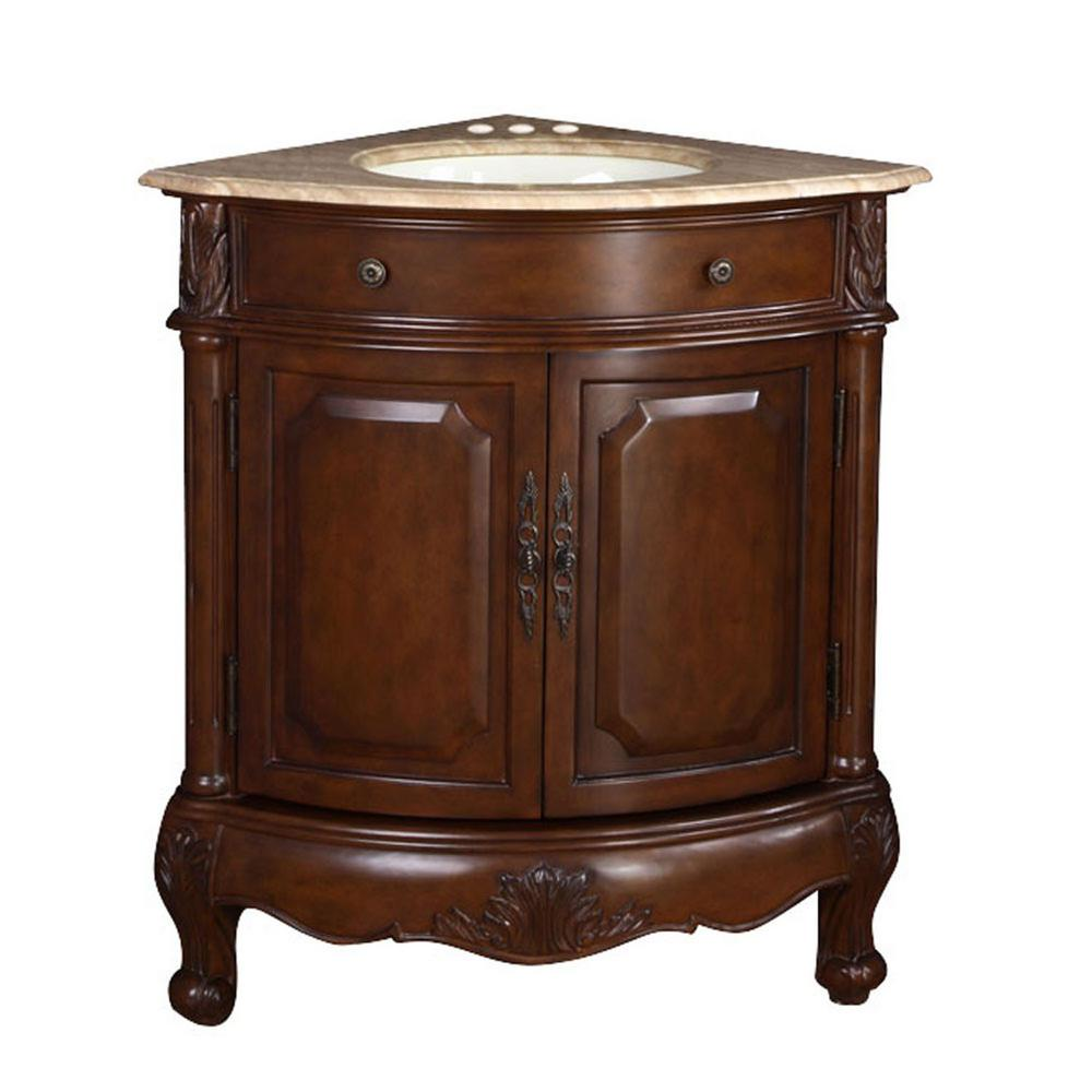 32 in. W x 23 in. D Vanity in Cherry with