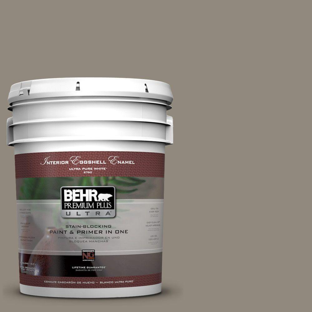 BEHR Premium Plus Ultra 5-gal. #790D-5 Squirrel Eggshell Enamel Interior Paint