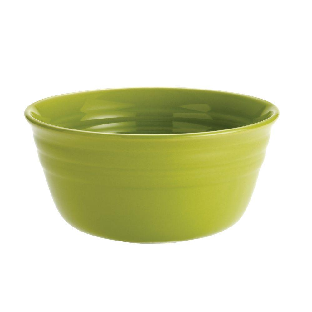 Rachael Ray Double Ridge 4-Piece Cereal Bowl Set in Green-DISCONTINUED
