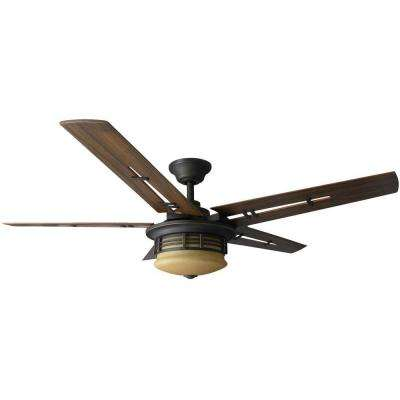 Pendleton 52 in. Indoor Oil Rubbed Bronze Indoor Ceiling Fan with Light Kit and Remote Control