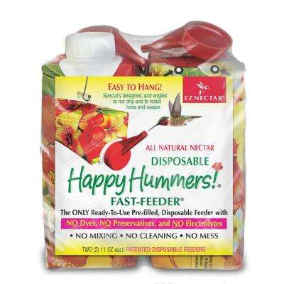 11 fl. oz. Disposable Prefilled Hummingbird Fast-Feeder with 100% Sugar and Water Ready-to-Use Nectar (2-pack)