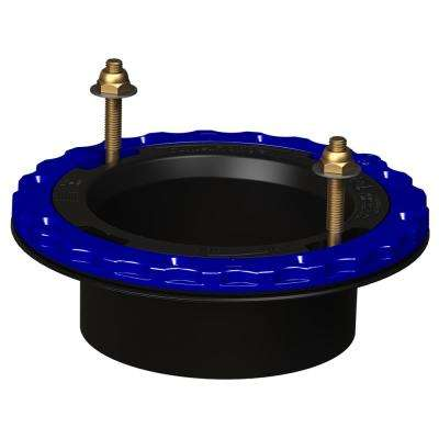 4 in. Glue-in Floor Protecting Toilet Flange in Black