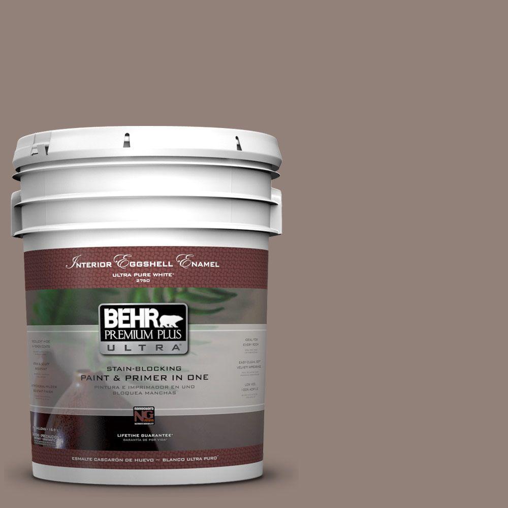 BEHR Premium Plus Ultra 5-gal. #BNC-22 Chocolate Chiffon Eggshell Enamel Interior Paint